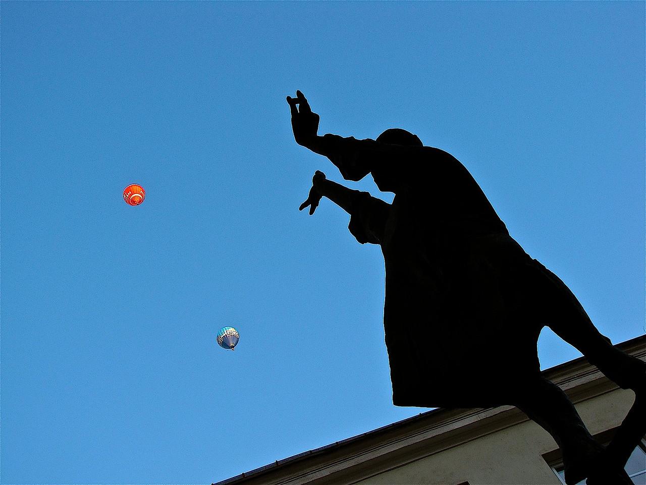 magic above Vilnius University