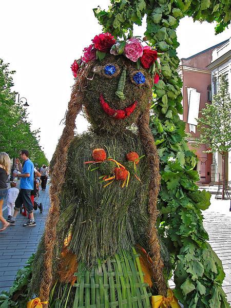 the festival's welcoming earth goddess