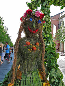 the festival's welcoming earth goddess