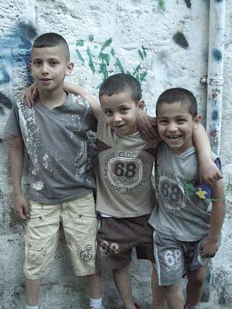 kids in the Muslim Quarter of old Jerusalem