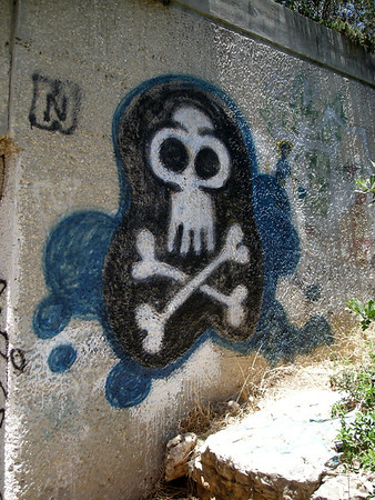 grafitti in the new city - West Jerusalem