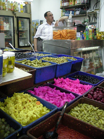 wonderful colors and flavors at a shop in the old city