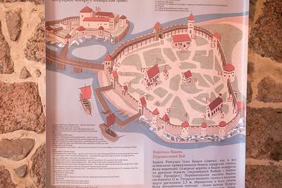План древнего Выборга - 16 век
