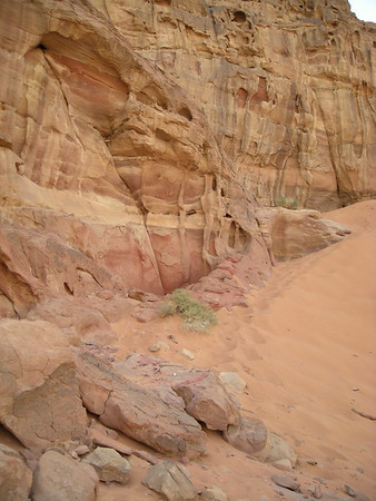 rock and sands of Wadi Rum, Jordan