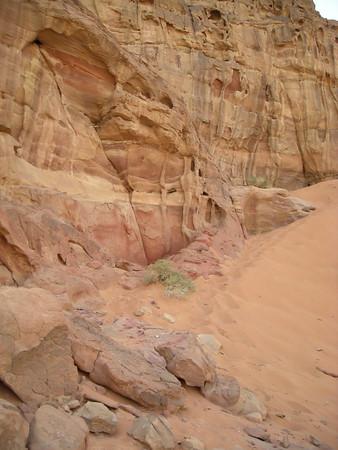 rock and sands of Wadi Rum, Jordan
