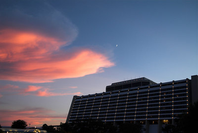Sunset at the Disney Contemporary Resort
