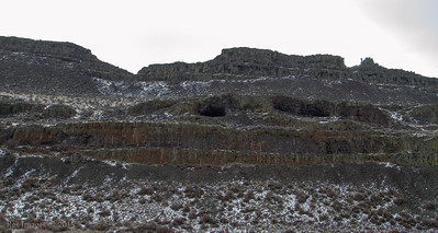 View of some of the caves from the entrance road.