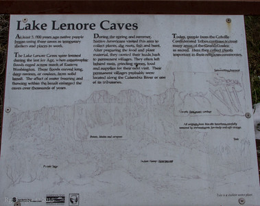 Lake Lenore Caves trail head.