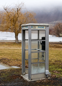 An endangered phone booth, Sun Lakes-Dry Falls State Park.