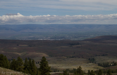 Ellensburg, WA. from Umtanum Ridge.