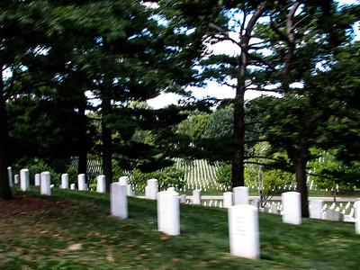 Arlington Cemetery, VA: Newer tomb stones