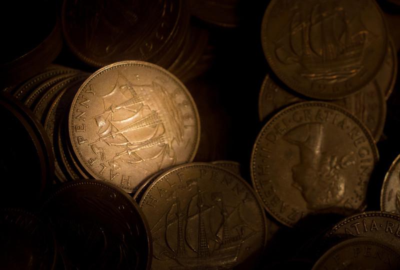 Coins in Antique Shop, Wilmington, Illinois