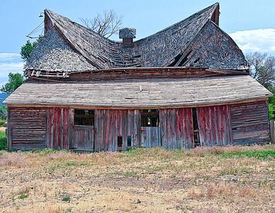 Old Red Barn, Near Cody Wyoming