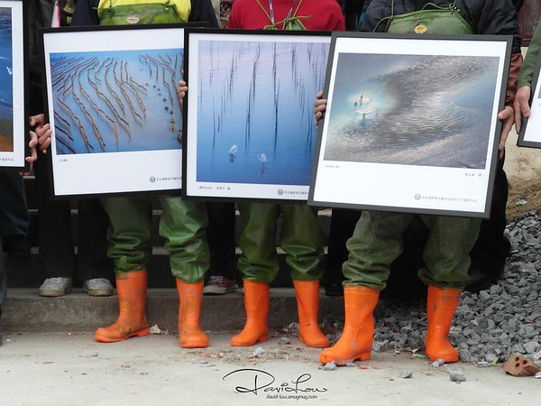 Presentation of pictures to fishermen