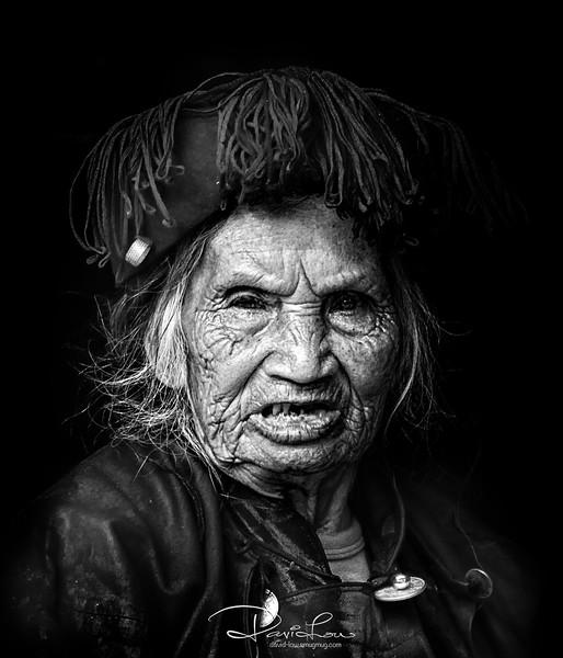 A tribeswoman in Qingkou village