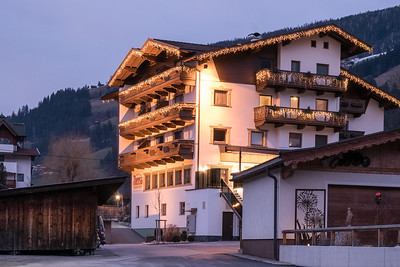 Apartment Teresia. Twilight (evening) view.