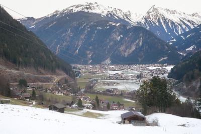 View of Mayrhofen, Finkenberg aria.