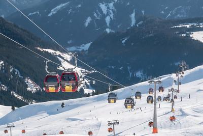 Panorama view from Gipfeltreffen restaurant, Konigsleiten