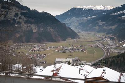 Mountain road from Gerlos (Gerlos Alpen strasse) to Ramsau