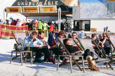 Zillertal Arena.  At restaurant Umbrella