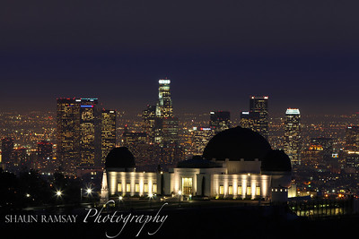 Griffith Observatory set against Downtown LA