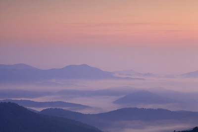 Foggy Blue Ridge Dawn
