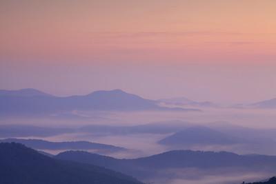 Foggy Blue Ridge Dawn
