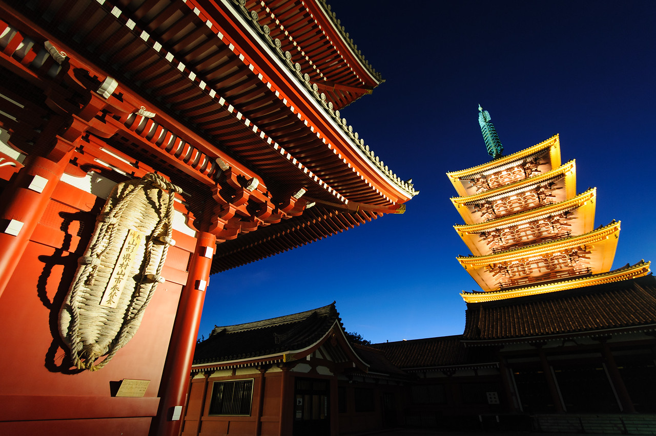 Twilight at a Japanese Temple