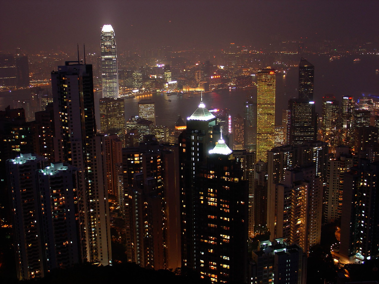 Night View from Victoria's Peak, Hong Kong