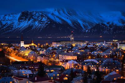Reykjavik at Blue Hour