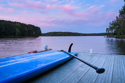Paddle Board On A Dock