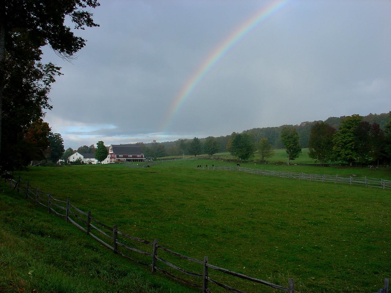 Rainbow near Barnard, Vermont