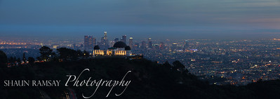 Griffith Observatory and Los Angeles Panorama
