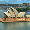 Sydney Opera House from Sydney Harbour Bridge, Australia
