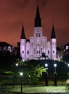 Sunset w St Louis Cathedral