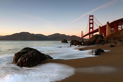 Marshall Beach & Golden Gate Bridge