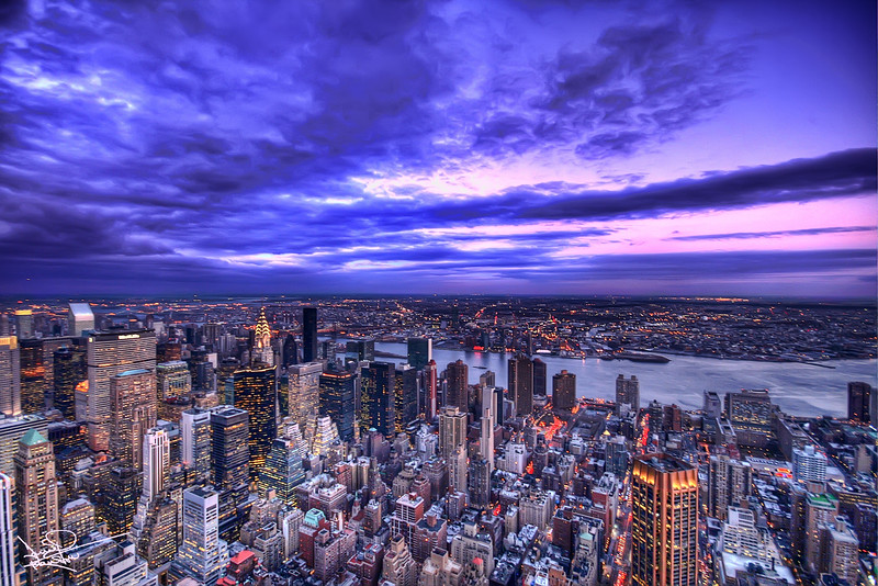 View from the Empire State, New York