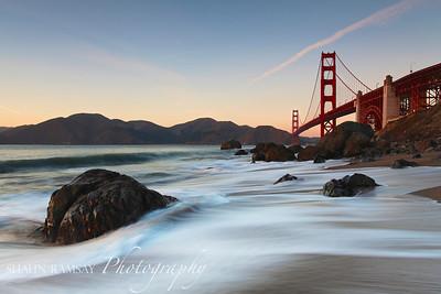 Marshall Beach & Golden Gate Bridge II