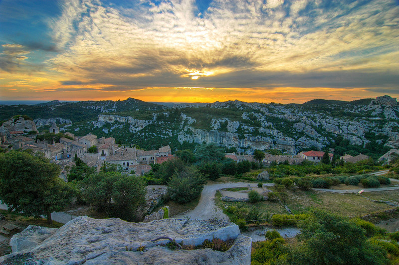 Sunset Les Baux