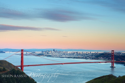 Winter Alpenglow in San Francisco
