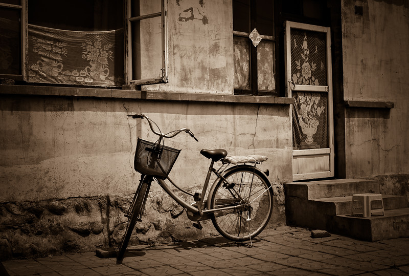 Bike and old house