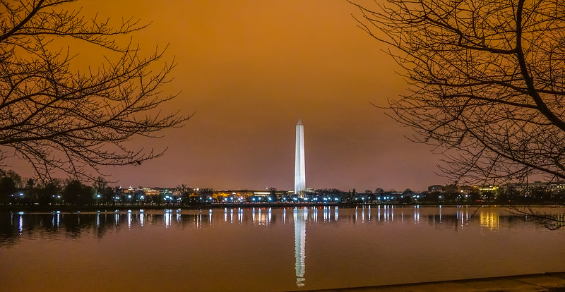 Washington Monument over the Tidal Basin