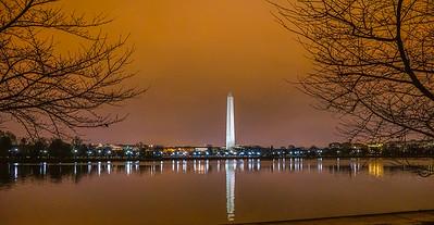Washington Monument over the Tidal Basin