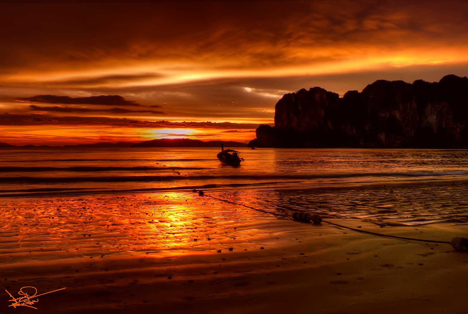 Railey Beach at Sunset, Thailand