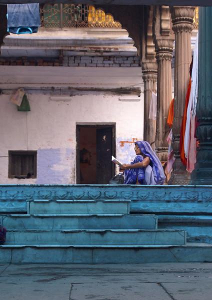 Woman in Blue, Varanasi