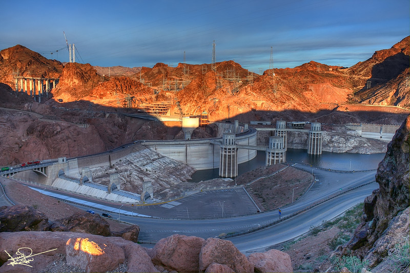 Hoover Dam at Dawn, Arizona
