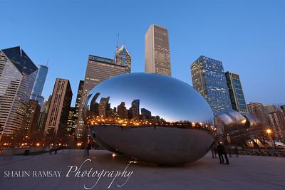 Self Portrait at Cloud Gate, Chicago
