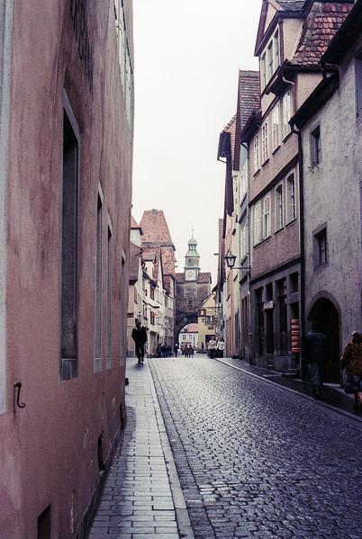 Frankfurt cobblestone street - 1980
