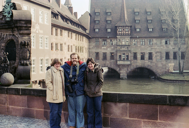 Frankfurt, Germany - Mercedes with Pan Am friends Dianne & Doug - 1980