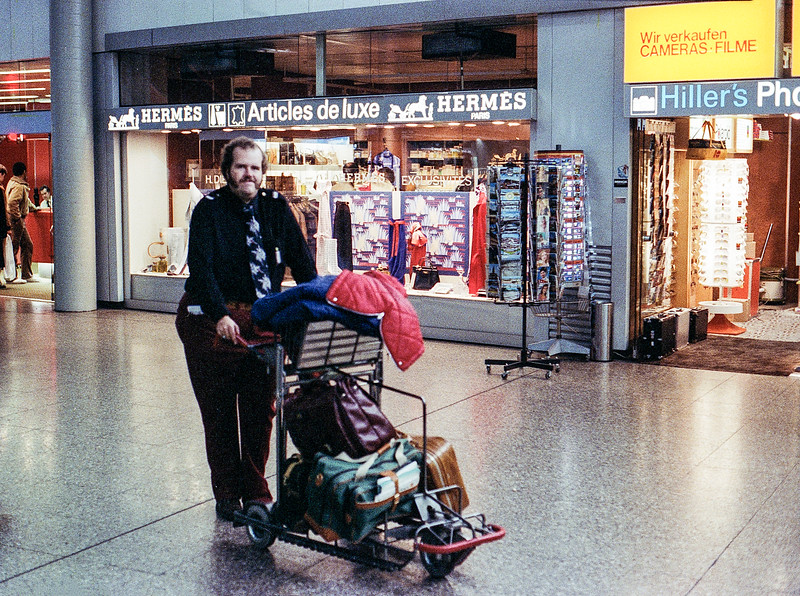 Doug at the Frankfurt airport prior to our retun flight - 1980